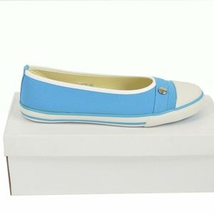 NIB Longchamp Paris Le Pliage Canvas Sneakers Flat